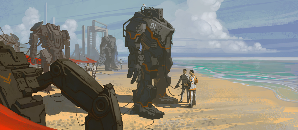 E.O.W Round #176: Mecha Flea Market on the Beach (Winner: MatejaPetkovic)
